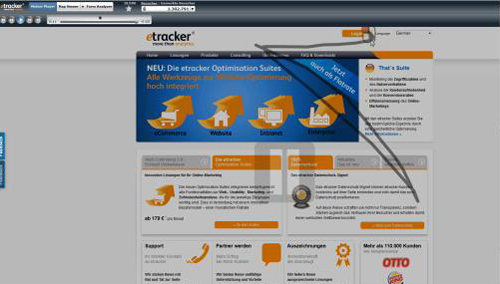 screenshot e-tracker